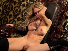 busty-blonde-sarah-jessie-plays-with-her-pussy