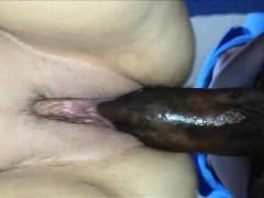 Big Black Cock Fucks A Chubby Milf Closeup