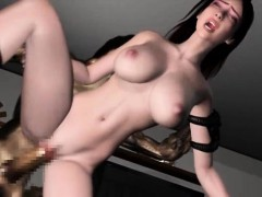 Hentai Hottie In Lingerie Nailed By Monsters Shaft