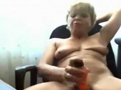 Horny Granny Masturbates