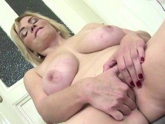 natural sexy mature toying in stockings Hot