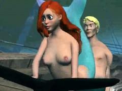 3d Cartoon Little Mermaid Getting Fucked Underwater