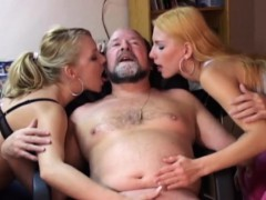 Cheap Girls Coil Their Tongues Over Old Hairy Ass