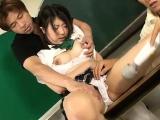 Yuri Hirayama schoolgirl in heats enjoys sex on cam