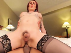 Redhead Shemale In Stockings Analized