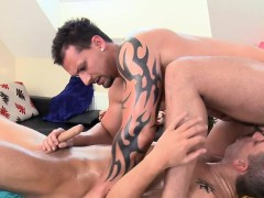 Hot White Hunk Is Enjoying A Lusty Massage From Dark Man