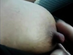 Tugging In The Auto On Her Best Nipples
