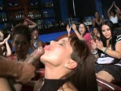 Alluring Chicks Are Taking Turns Engulfing Stripper's Ramrod