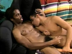 Two Lustful Black Boys Drilling Each Other's Asses With A Big Dildo