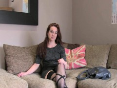 Brunette In Stockings Fucking Agent On Interview