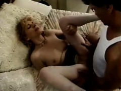 Sexy Blonde Milf Sucks A Fat Dick And Then Takes It Hard In Her Peach