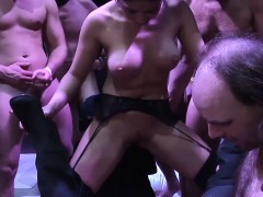 Cute Teen In Extreme Gangbang Party