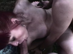 Redhead Mature Sucks And Fucks Two Young Dicks