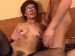 redhead-grandma-in-laced-stockings-fucks-young-dick