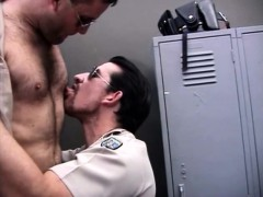 Naughty Cops Lose Their Clothes And Enjoy Anal Sex In The Locker Room