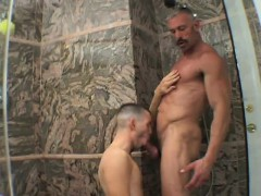 Pretty Boy Has A Lustful Daddy Pounding His Lovely Ass In The Shower