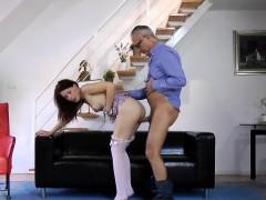 Amateur Eurobabe Rides Geriatrics Cock