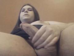 Huge Tits Tranny Hot Jerking Off On Cam