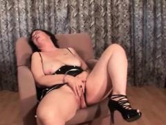 Mature Slut Taking Facial And Masturbating