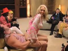 Swinger Wife Sabrina Sucks Strapon In Front Of Husband
