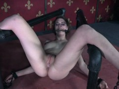 Drooling Sub Caned Until Her Ass Is Raw