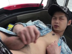 Japanese Twink Tugs Cock