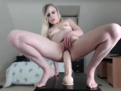 Blonde Teen Small Tits Penetrated By Dildo