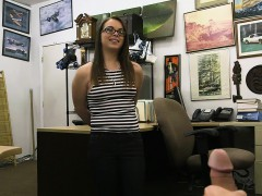 Slut With Glasses Nailed By Pawn Keeper At The Pawnshop