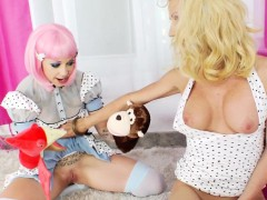 shemale-gagging-on-toy