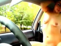 Nude Girl In Car And People Can See 2 (1)