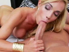 blonde shemale blowjob