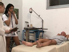 Ebony Tgirl Nurse Spunked