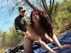 Police Gagged First Time Redhaired Peacherino Can Do Everyth