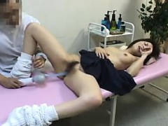 Doctor Not Only Gives Her A Nasty Exam, He Toys Her Bushy P