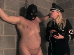 Uniformed Mistress Punishing With Electroplay