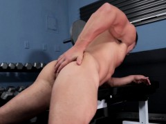 Beefy Lockerroom Jock Tugging His Thick Cock