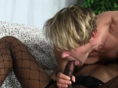 Nubian Transsexual Rides White Cock