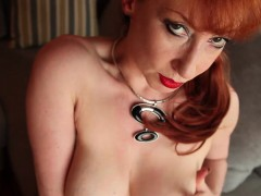 Hot And Horny Redhead Milf Masturbates Outside Before The