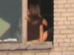 Traveler Voyeur Catches Young Couple Fucking In Screen