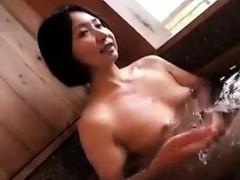 Alluring Japanese Lady Has Her Horny Lover Kissing Her Perk