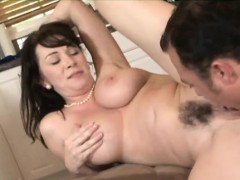 Raven haired Cougar Has Her Hairy Muff Plowed