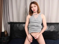 Gaping Asian Ts Wanks Her Fat And Hard Cock