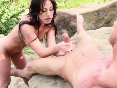 brunette-jerks-for-cum