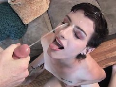Slender Teen Tgirl Rammed And Facialized!