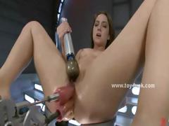 slut-with-big-tits-laying-on-her-back-on-table-and-getting