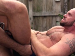 Outdoor Interracial Bareback Therapy For White Hunk