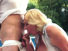 Granny Loves The Taste Of Young Cocks