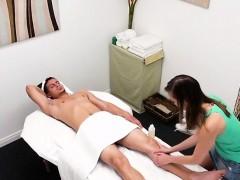 Cute Masseuse Christy Love Massages Clients Cock