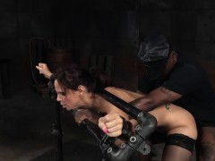 Busty Submissive Fucked While Tiedup