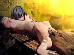 3d Girl Ravaged In A Freak Prison!